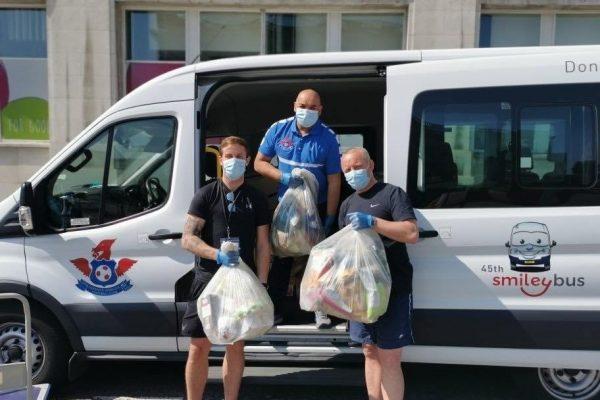 LHFC delivering food parcels during the Covid-19 pandemic.